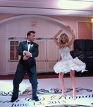 Joanna Krupa and Romain Zago dance at wedding reception