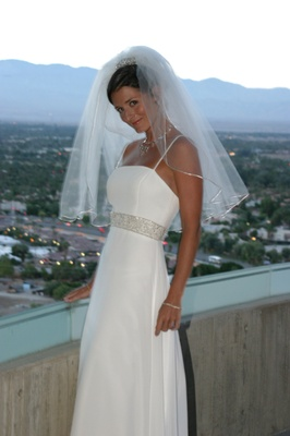 Demetrios floor-length bridal gown