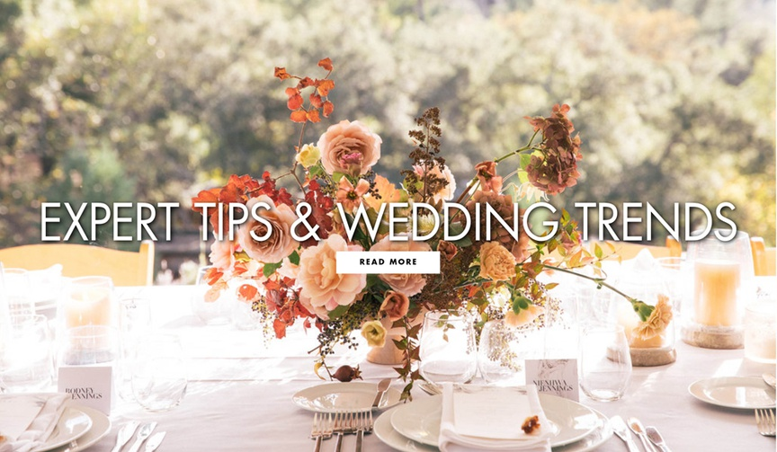 Expert tips and wedding trends from top wedding planners and photographers