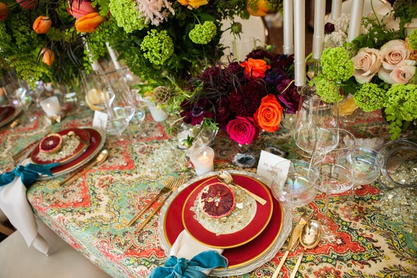 David Pressman Events & Lilla Bello created this design using three different linens