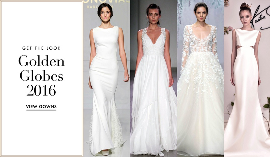 Wedding dresses inspired by red carpet looks from the 2016 Golden Globe Awareds