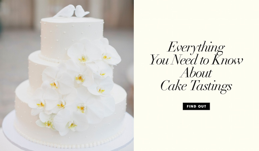 everything you need to know about wedding cake tastings