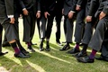 Groom and groomsmen shoes and colorful sock