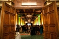 Wedding cocktail hour in the Tifanny Room of the Millennium Biltmore Hotel Los Angeles
