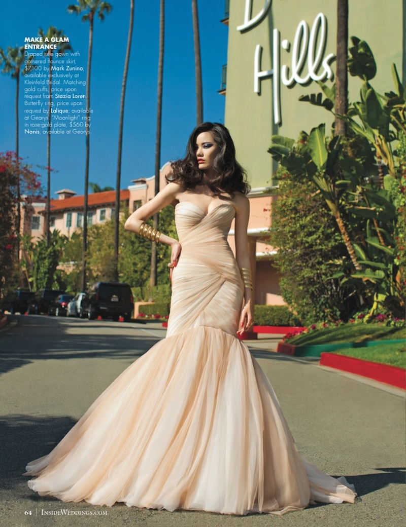 Wedding dresses photos blush mark zunino gown inside for Beverly hills wedding dresses