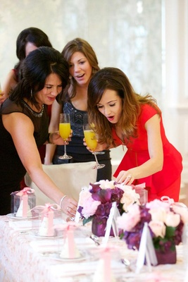 The Bachelorette star surprised by centerpieces