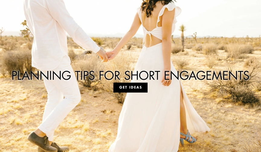 Planning tips for short engagements