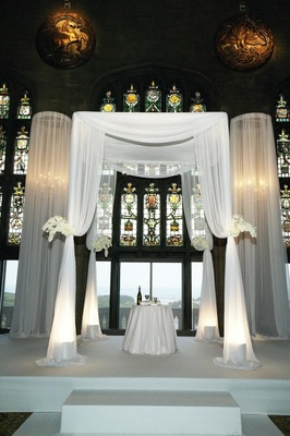 Traditional Jewish ceremony decor