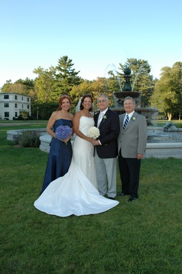 Bride and groom with maid of honor and best man