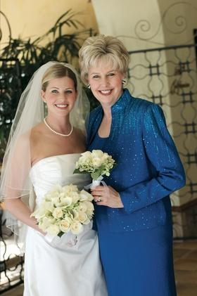 Bride's mom wore bedazzled royal blue blazer