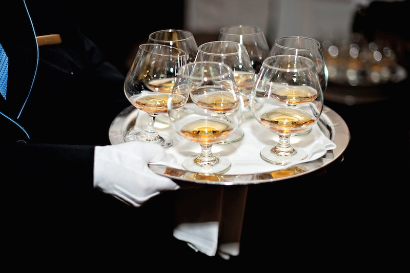 White glove catering with Johnnie Walker Blue Label
