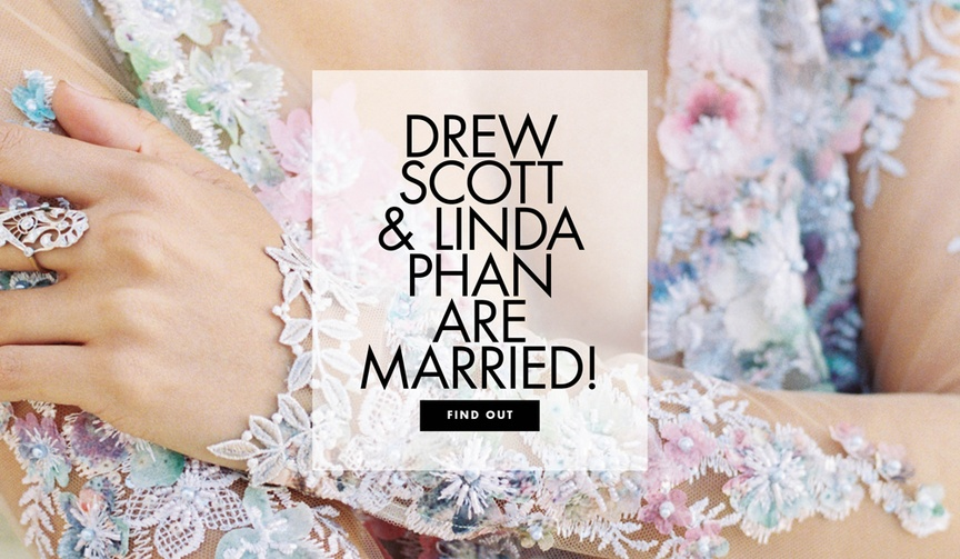 Property Brothers star Drew Scott is married! See more of his wedding to Linda Phan