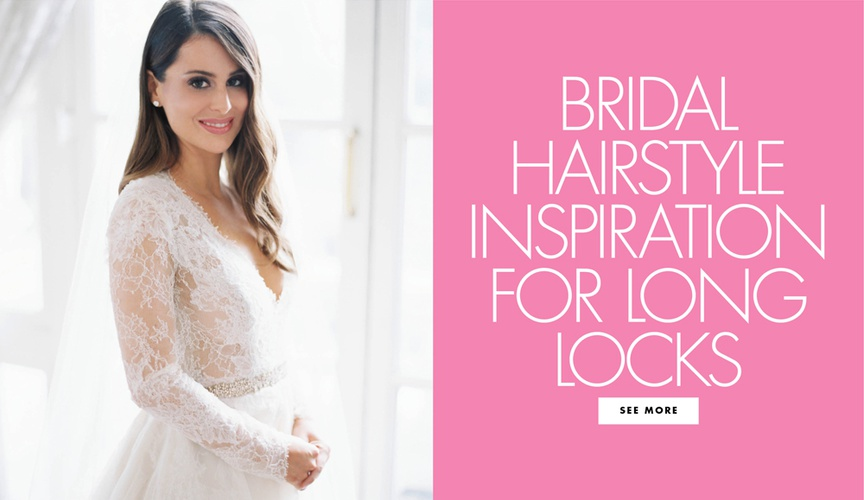 Be inspired by 15 real brides who chose to wear their beautiful long hair down for the ceremony!