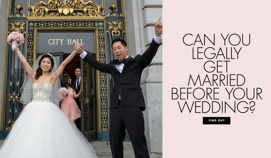 Can you legally get married before your wedding? Civil ceremony before reception