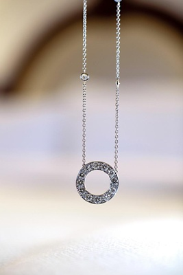 Silver necklace with eternity circle pendant