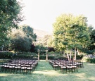 Wedding ceremony in a Malibu backyard