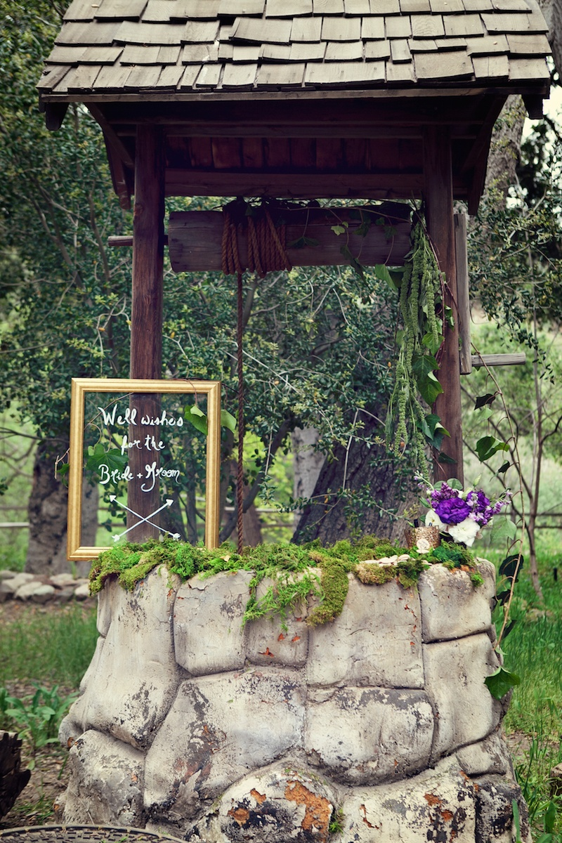 Outdoor Wedding With Wishing Well On The Grounds Of Oak Canyon Ranch,  Agoura, CA