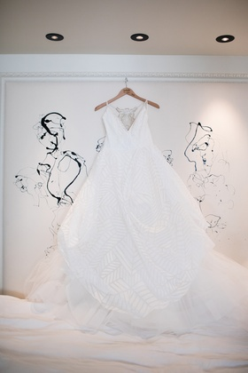 hayley paige wedding dress with v-neck and
