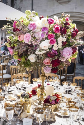 Centerpiece at Nikki Sixx and Courtney Bingham's wedding