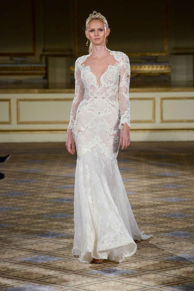 Wedding Dresses Photos - Berta FW16 Long Sleeve Ivory Gown - Inside ...