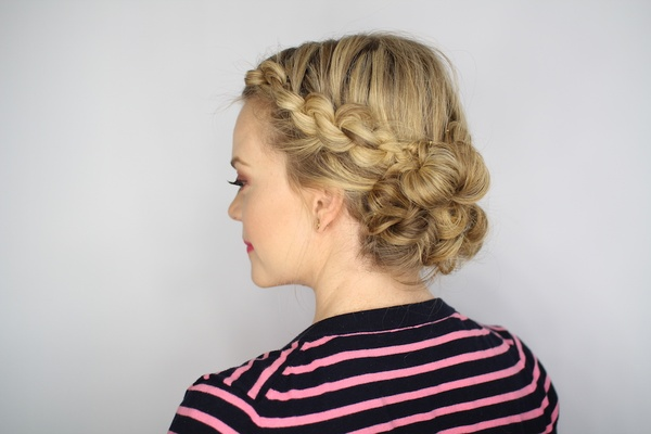 Fantastic Diy Wedding Day Hairstyles Rehearsal Dinner Knotted Updo Short Hairstyles Gunalazisus