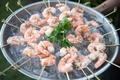 Shrimp appetizer for beachside wedding cocktail hour
