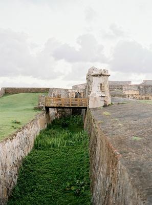 wedding location Castillo San Cristóbal fortress near ocean historic wedding ceremony venue
