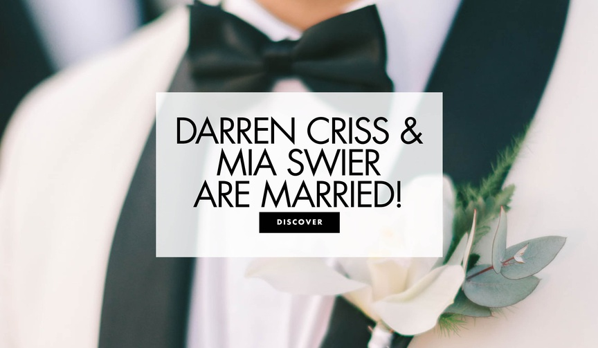 Darren Criss and Mia Swier are married see more from their new orleans wedding