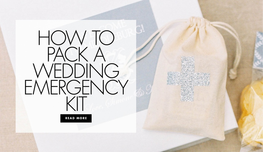 How to pack a wedding emergency kit