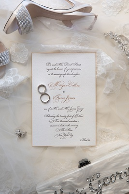 wedding invitation the pierre new york black tie wedding invite wedding bands earrings shoes veil