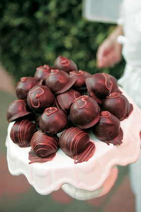 Brown and pink decorated sweets