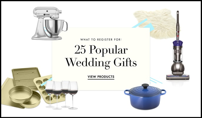 Popular wedding registry items for brides and grooms for Popular wedding registry locations