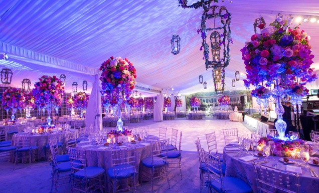 pink purple garden inspired tented wedding in new york inside weddings