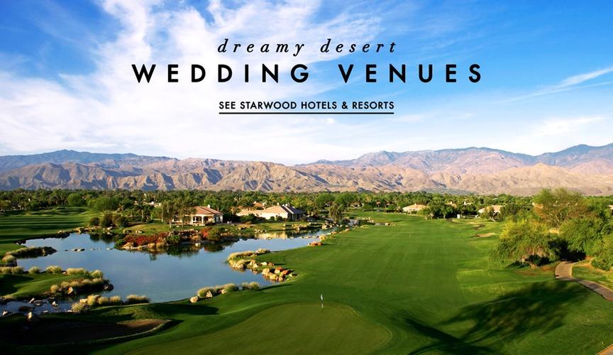 Starwood Hotels and Resorts desert wedding venues