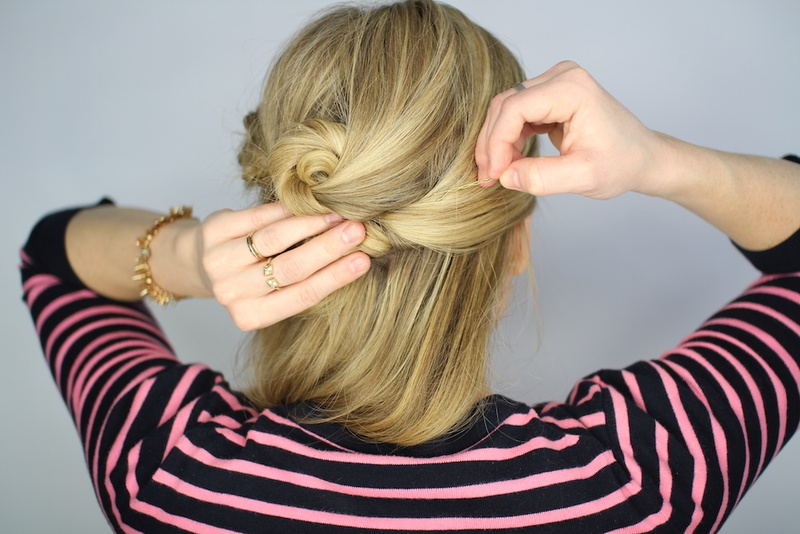 Beauty Photos Knotted Updo Step 12 Inside Weddings
