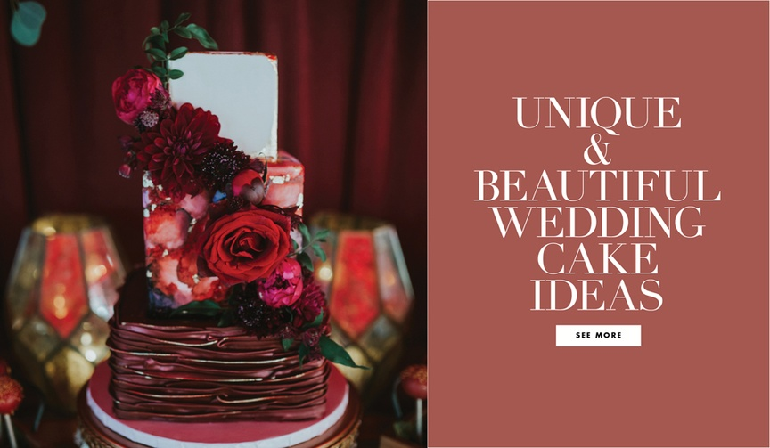 Unique and beautiful wedding cake ideas for your reception