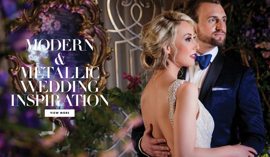 Inspiration for couples who want a modern aesthetic on their wedding day.