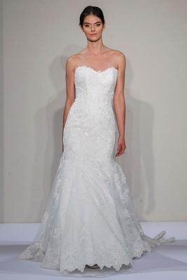 Dennis Basso 2016 strapless drop waist mermaid wedding dress