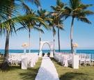 beach wedding, dominican republic wedding, tropical ceremony