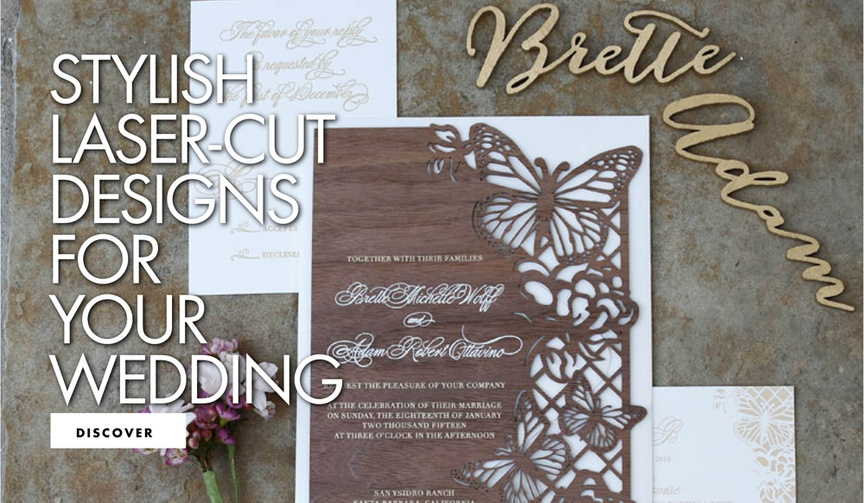stylish laser cut designs for your wedding laser-cut details