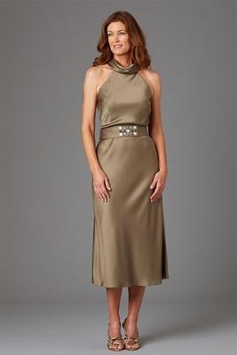 Siri Spring 2016 mother of the bride dress Julianne tea length halter dress
