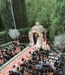 Beverly Hills Hotel outdoor ceremony covered with flowers
