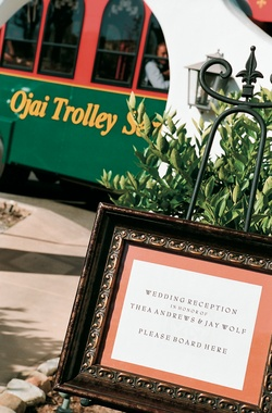 Ojai trolley wedding shuttle and transportation