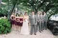 Laura Hooper with bridesmaids and groomsmen
