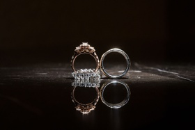 wedding rings for bride and groom ghana royalty wedding rings standing up