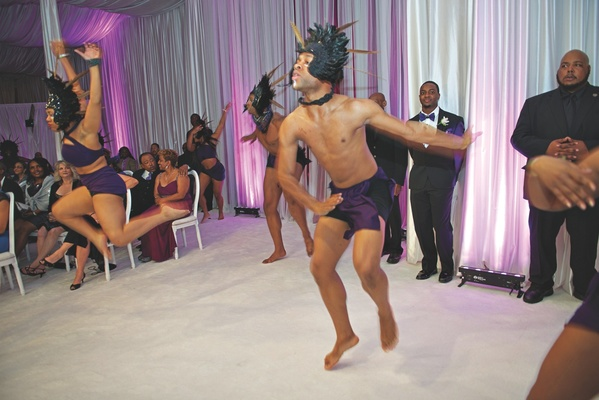 Kandi Burruss wedding reception African American dancing performance