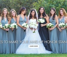 dresses maid of honor bridesmaids stand out different gowns matched wedding fashion ladies
