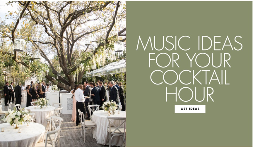 music ideas for your cocktail hour playlist for pre reception