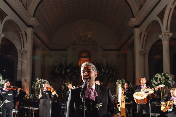 Archoiris LGBTQ mariachi group performing at same-sex wedding at vibiana in los angeles