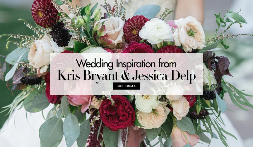 Wedding inspiration from MLB baseball player and MVP Kris Bryant and his new wife Jessica Delp